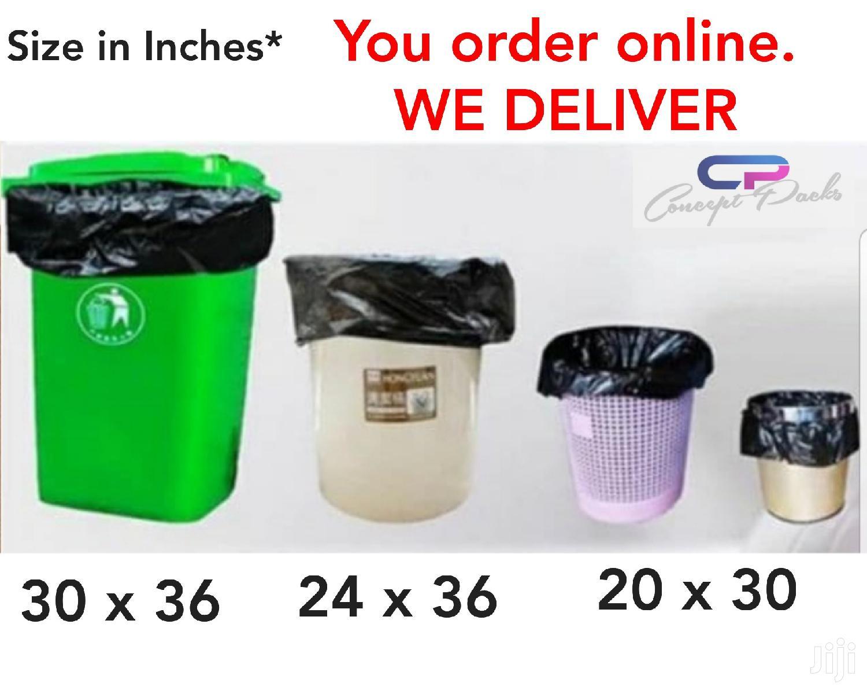 30X36 50pcs Heavyduty Large Printed Garbage,Trashrefuse Bags