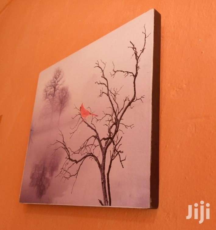 Archive: Framed Canvas Red Bird Wall Painting Imported