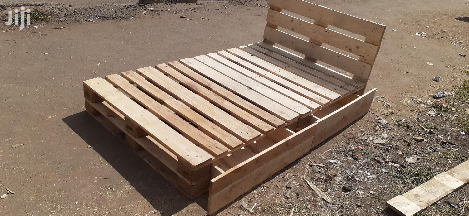 4by6 Pallet Bed With Storage/4by6 Beds/Pallet Beds | Furniture for sale in Ziwani/Kariokor, Nairobi, Kenya