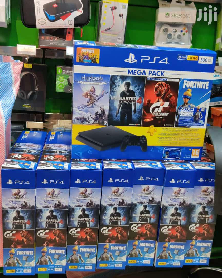 Ps4 500GB Mega Pack , Ps4 Slim 500GB With 4 Games Free