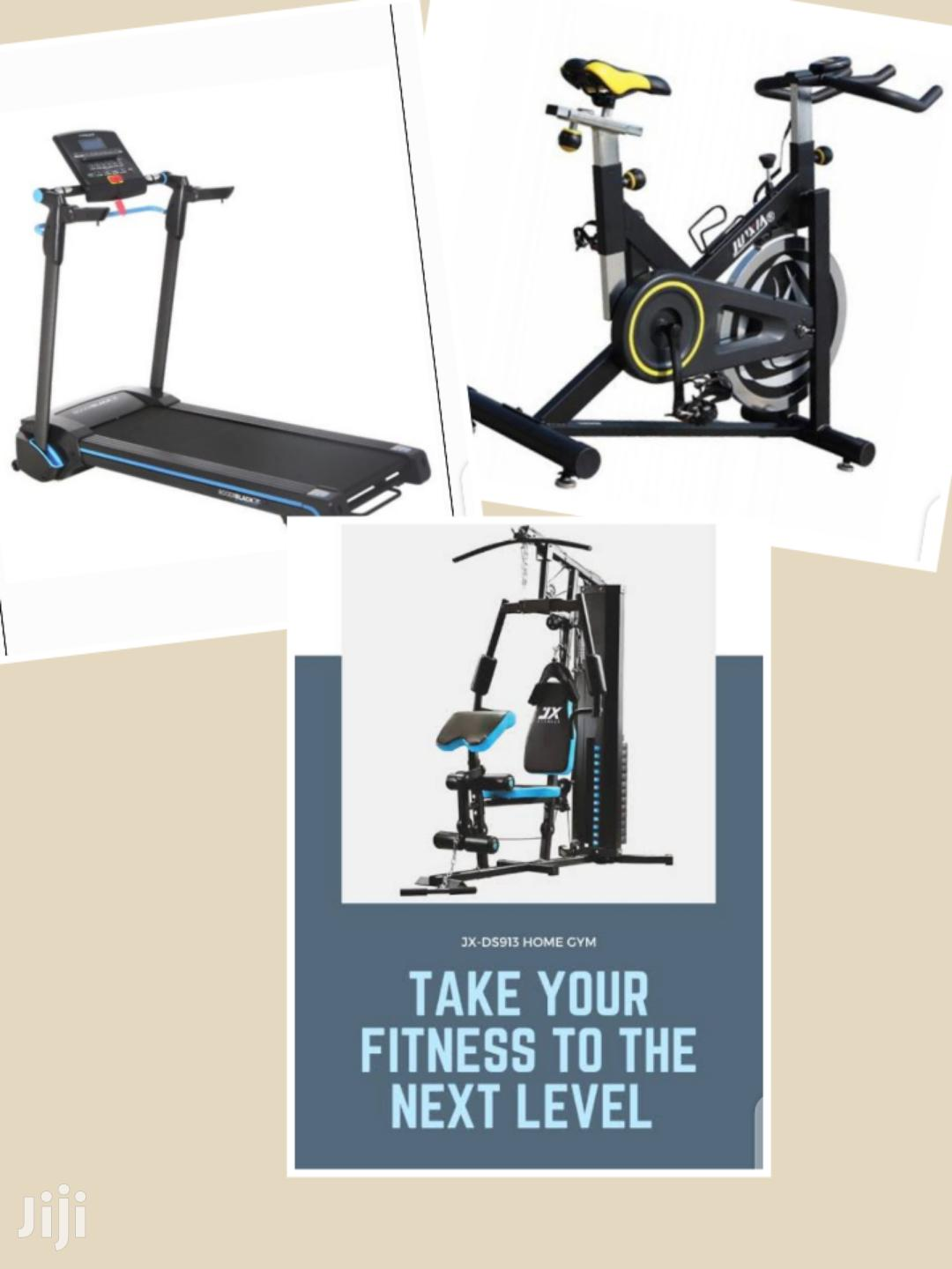 Offer! Treadmill + Spinbike + Home Gym Package