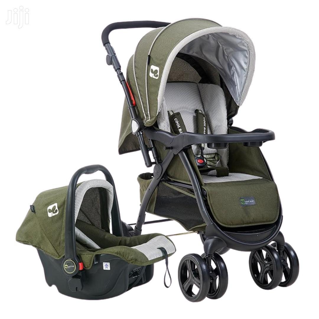 Superior 3 In 1 Baby Stroller Set- Navy Green