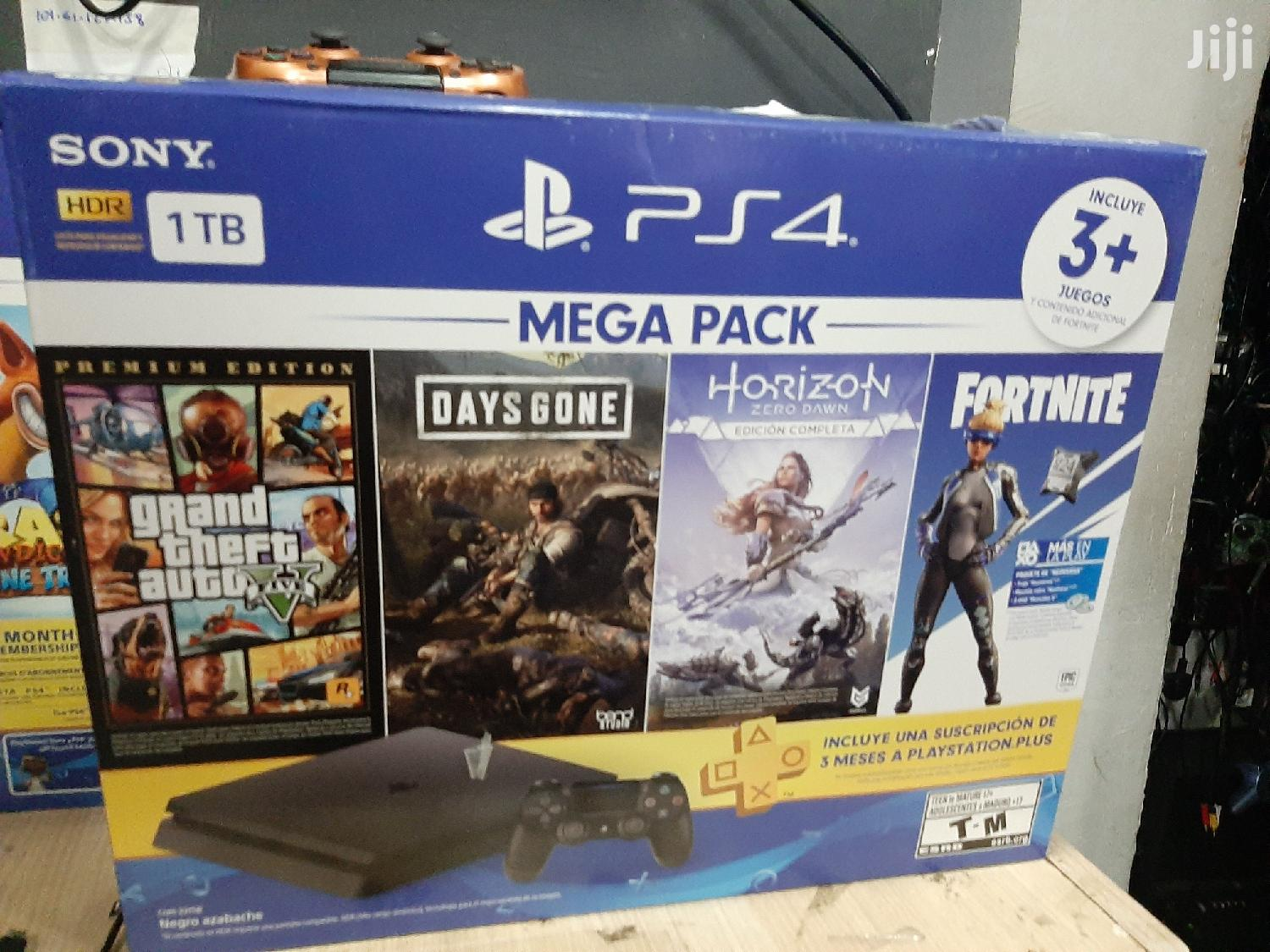 Play Station 4 With Days Gone,GTA V,Fornite And Horizon