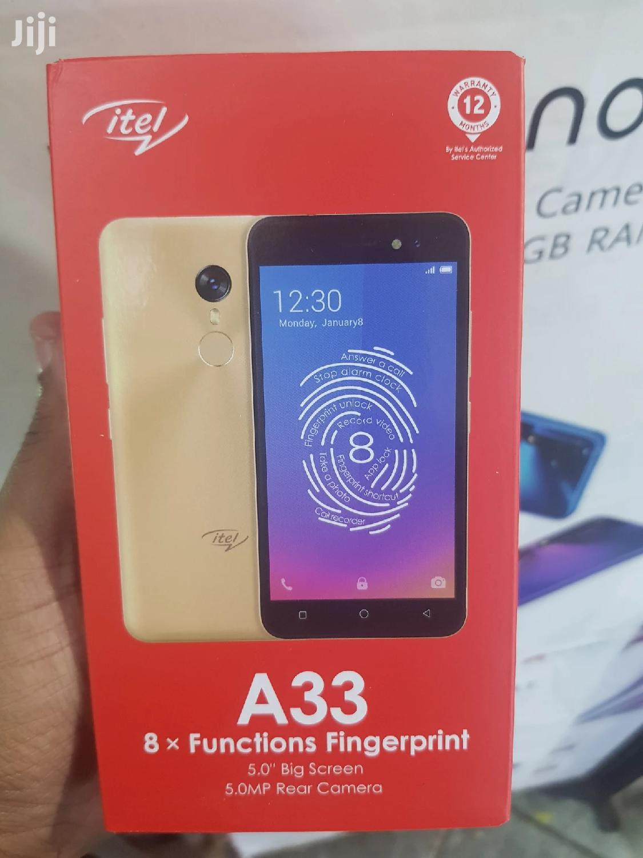 New Itel A33 8 GB Black