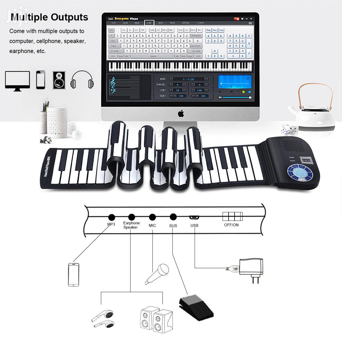 88 Keys MIDI Piano Roll Up Flexible Keyboard With Speakers | Musical Instruments & Gear for sale in Nairobi Central, Nairobi, Kenya