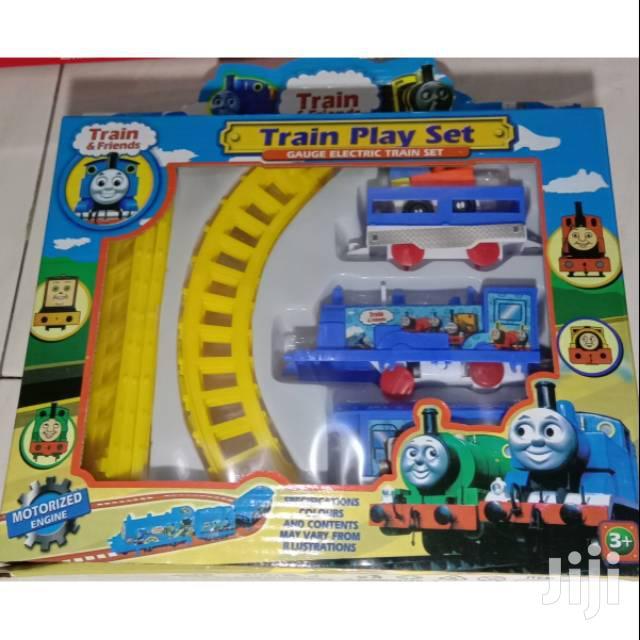 Kids/Children Electric Yellow Or Orange Train Toy