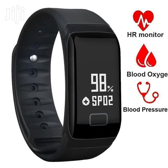 Sports Heart Rate Blood Pressure Smart Bracelet Watch – Black