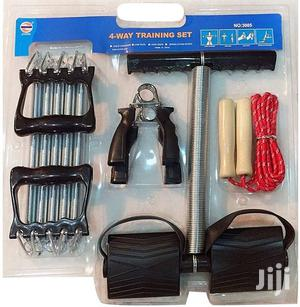 4 Way Training Set Tummy Trimmer Chest Expander Skip Rope Hand Grip   Sports Equipment for sale in Nairobi, Nairobi Central