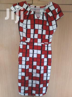 Checked White And Red Dress
