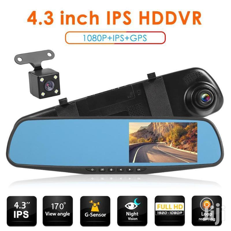 4.3 Inch Dual Lens Car Video Recorder Rearview Camera