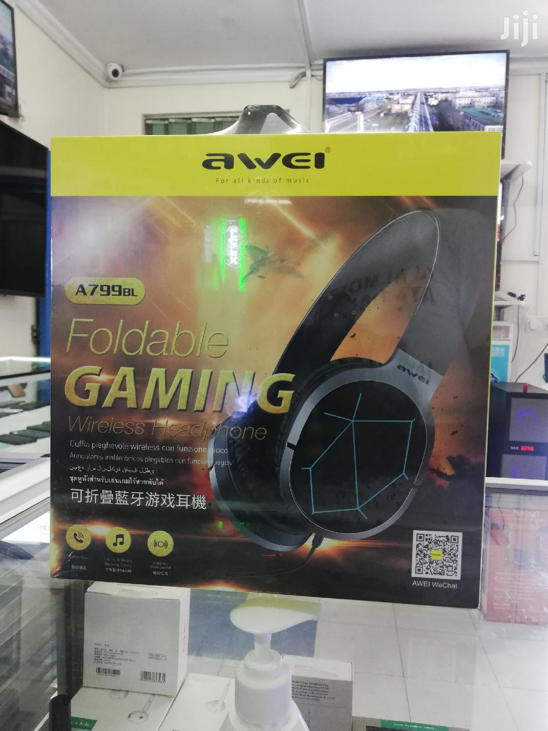 Awei A799 Bl Foldable Gaming Headphones