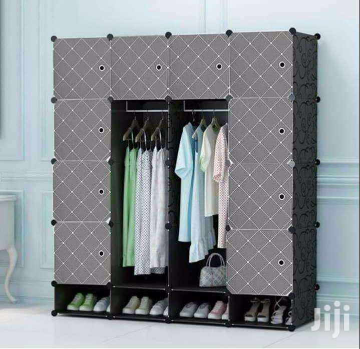 Get Quality Wooden Frame Portable Wardrobes And Shoe Racks