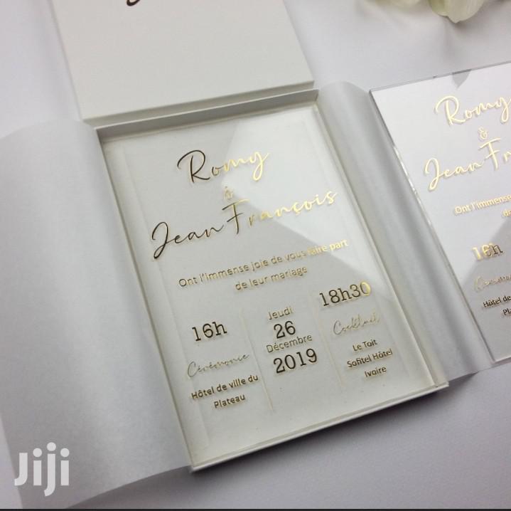 Archive: Wedding Cards. Acrylic Wedding Cards.