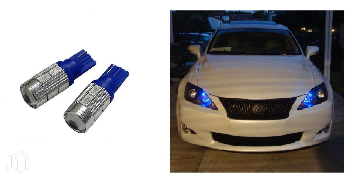 Blue T10 Parking LED Bulbs: For Toyota,Nissan,Subaru,Honda,Vw,Mazda