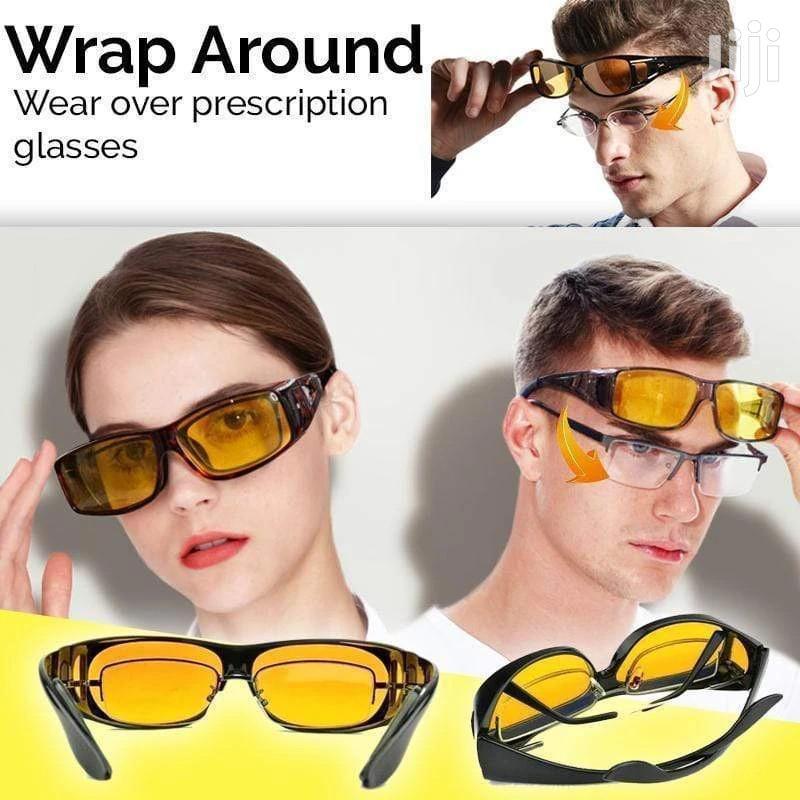 Night Driving Anti Glare Glasses Wraparounds