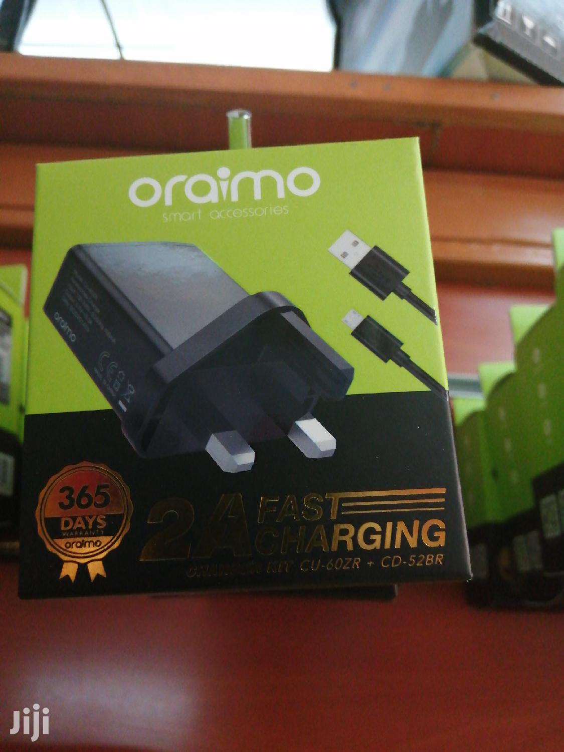 Oraimo Charger 3pin | Accessories for Mobile Phones & Tablets for sale in Nairobi Central, Nairobi, Kenya