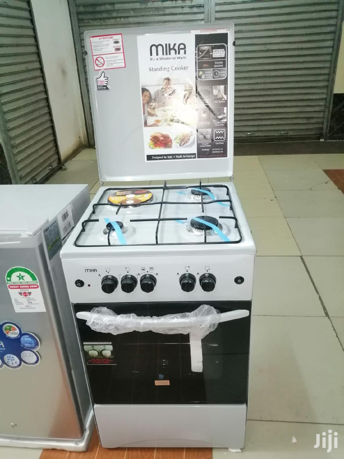 Mika 3gas Burner 1 Electric Cooker - White 50*55