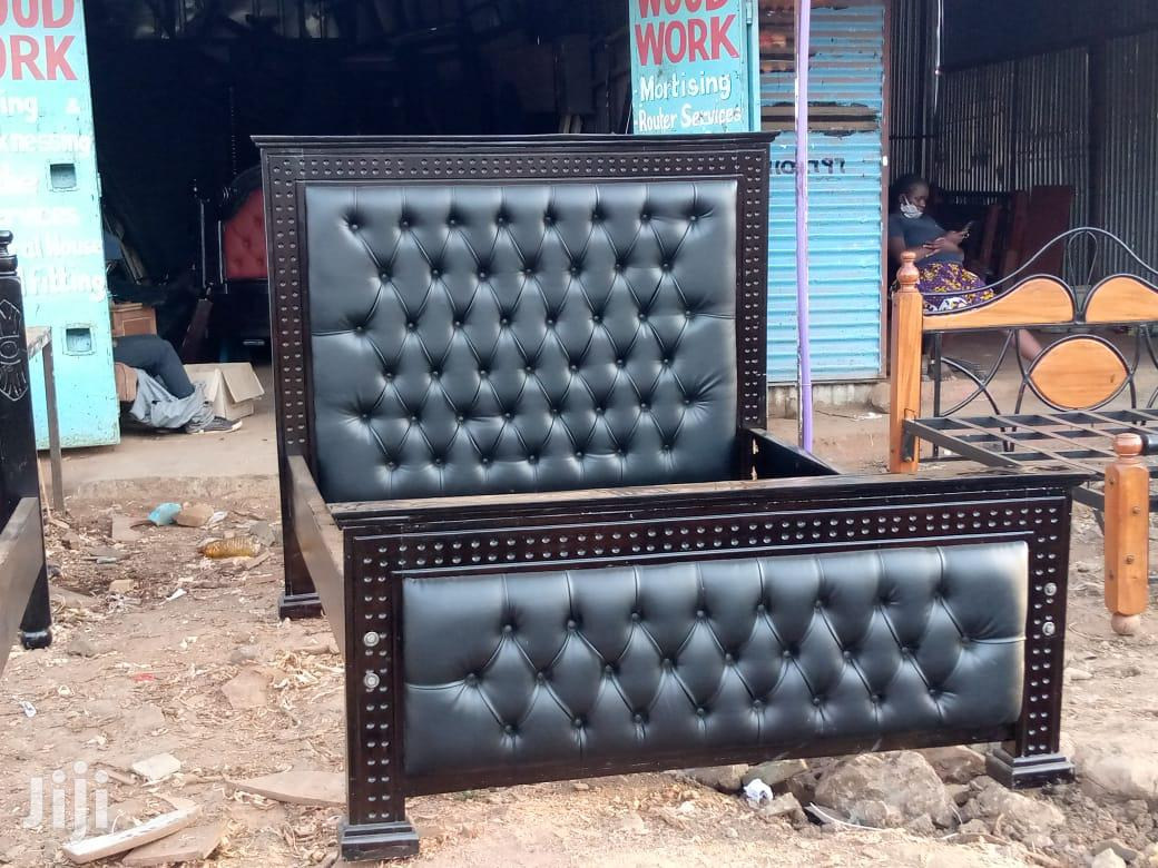 5*6 Black Bed - From Tech Skills The Leader | Furniture for sale in Kamulu/Joska (Kasarani), Nairobi, Kenya