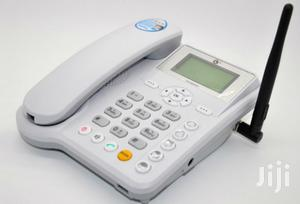Sim Card GSM Fixed Desktop Phone With Rechargeable Battery