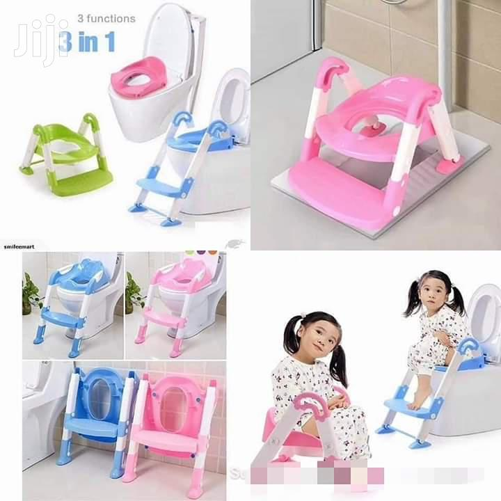 Archive: Baby Potty With Ladder - Portable Training Kids Toilet Blue