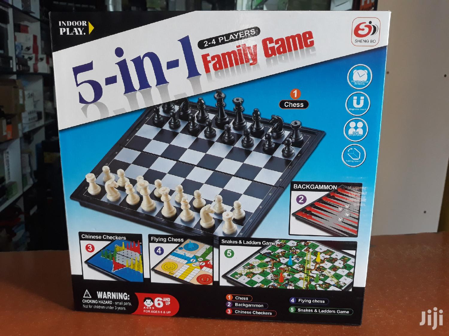 5 In 1 Game,Chess,Checkers Flying Chess Snake And Ladder